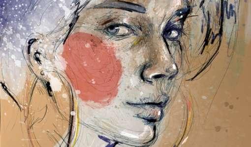 Bunte Porträtillustrationen