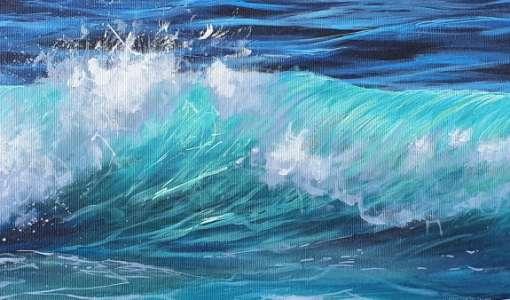 Faszination Meer und Wellen malen in Acryl
