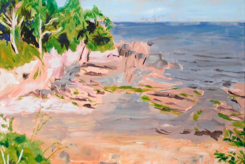 Küstenlandschaften in Acryl
