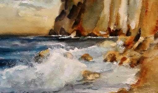 Aquarellmalerei und Experiment