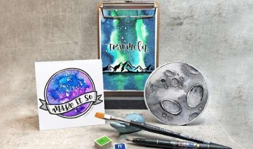 Lettering, Mond & Galaxien