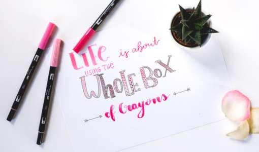 Lettering - Buchstaben schön zeichnen