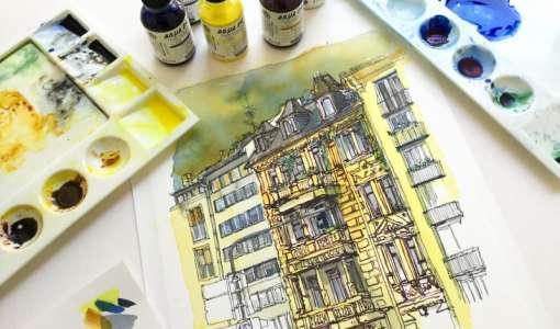 Urban Sketching mit Schmincke AQUA DROP