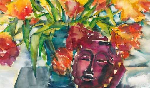 Expressive Aquarellmalerei
